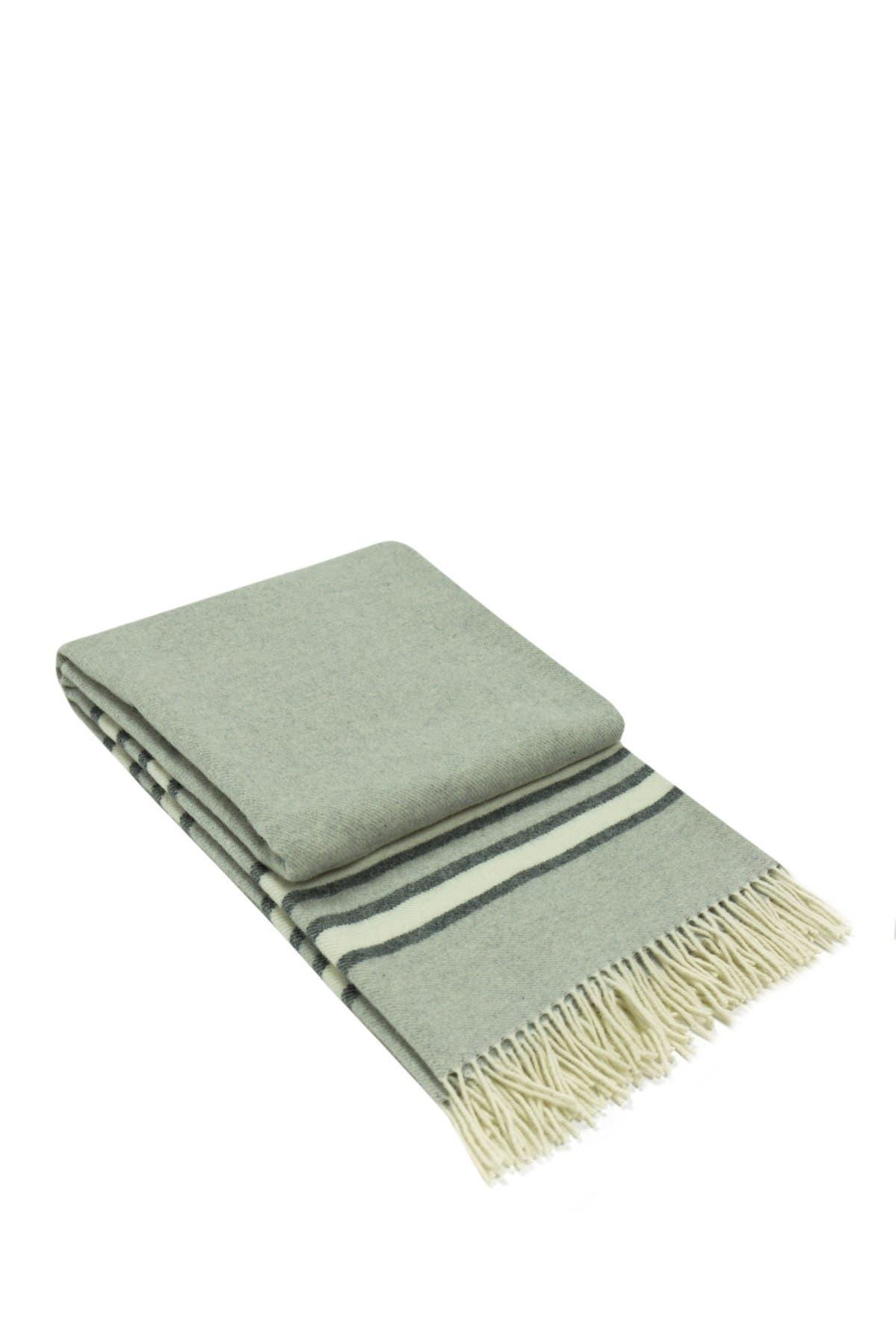 Image of Melange Home Italian Wool Blend Throw - Light Grey