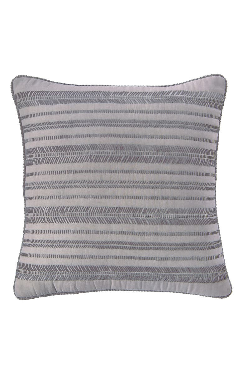 SPLENDID HOME DECOR Embroidered Voile Accent Pillow, Main, color, CLOUD GREY