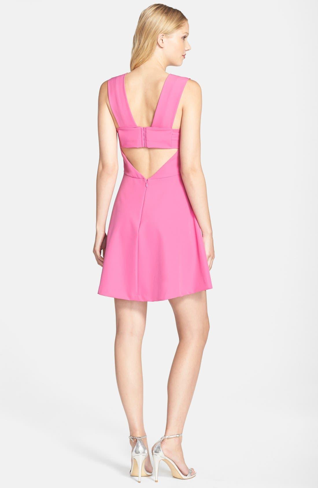 ,                             Bianca Back Cutout Fit & Flare Dress,                             Alternate thumbnail 85, color,                             950
