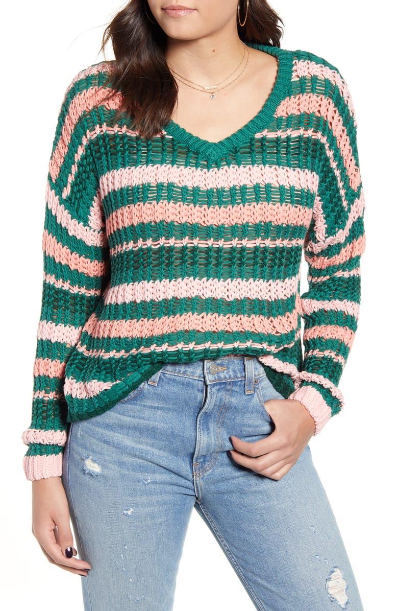 MINKPINK Remy Stripe Sweater, Main, color, MULTI