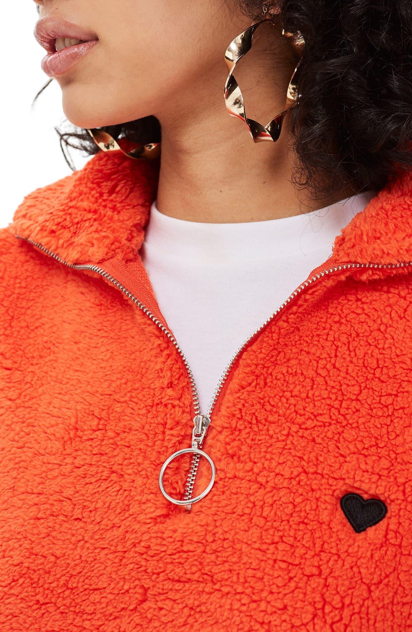 ,                             Borg Heart Quarter Zip Pullover,                             Alternate thumbnail 11, color,                             600