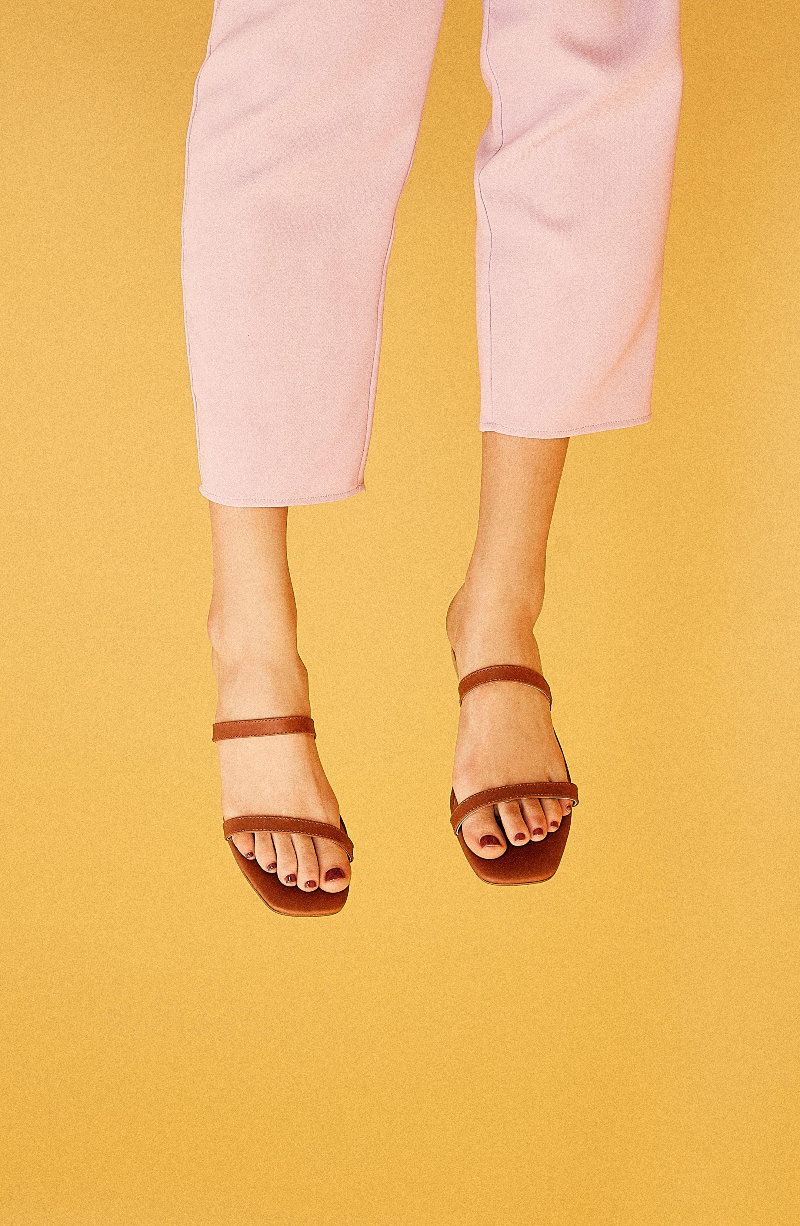 ,                             Sprung Slide Sandal,                             Alternate thumbnail 2, color,                             RUST LEATHER