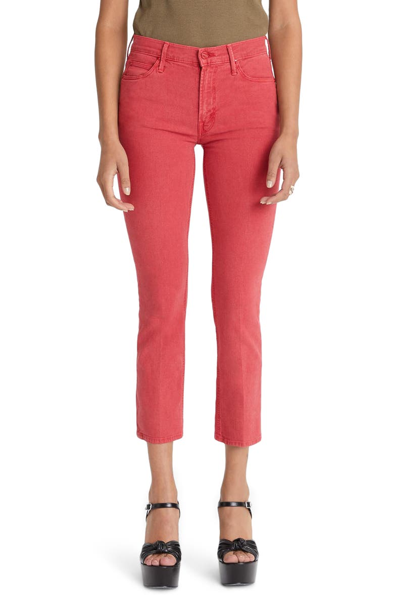 MOTHER The Dazzler High Waist Ankle Straight Leg Jeans, Main, color, SO FAR GONE
