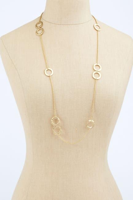 Image of Rivka Friedman 18K Gold Plated Brushed Circle Station Necklace