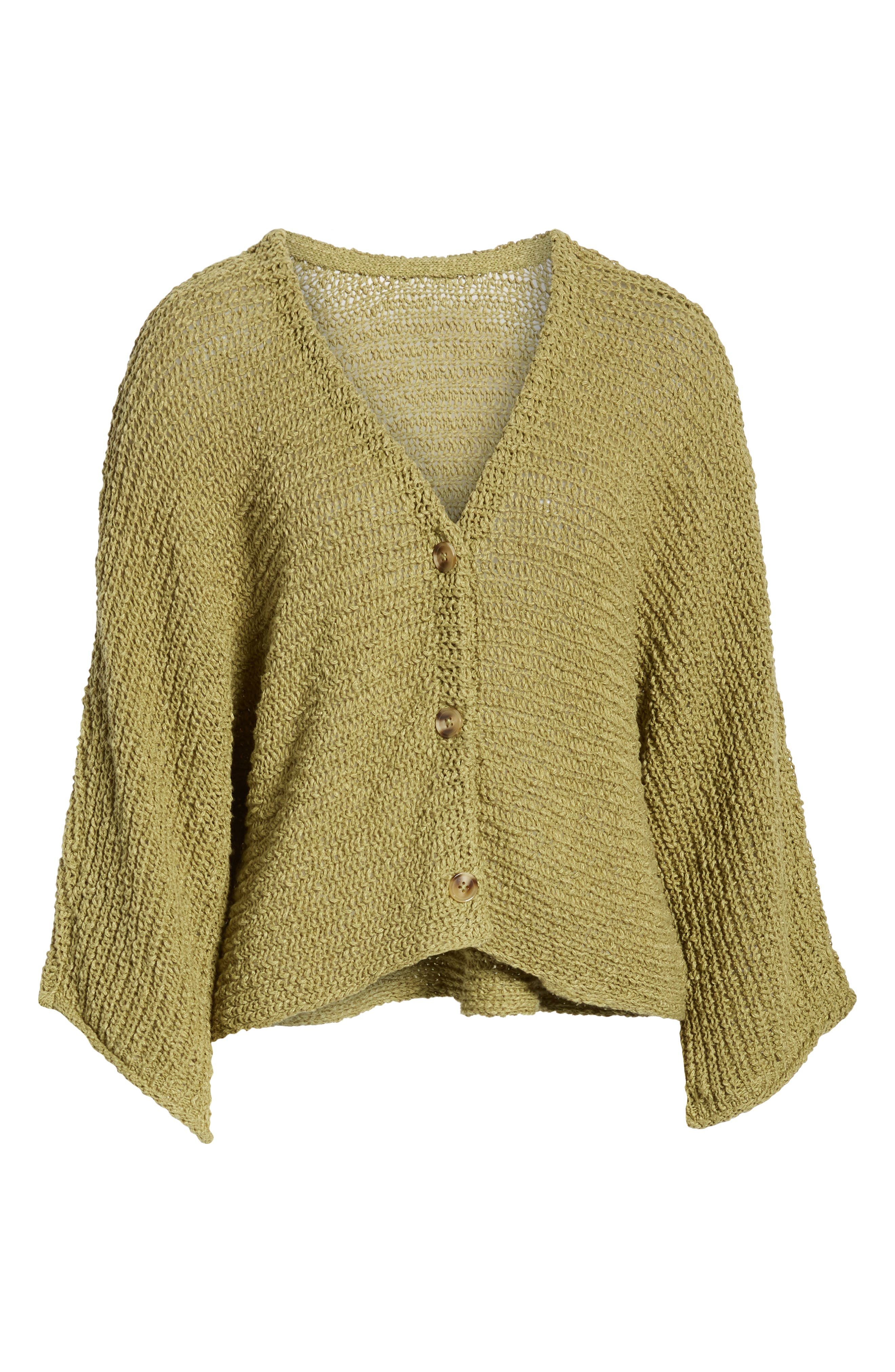 ,                             Dolman Sleeve Button Front Cardigan,                             Alternate thumbnail 8, color,                             OLIVE EMERALD