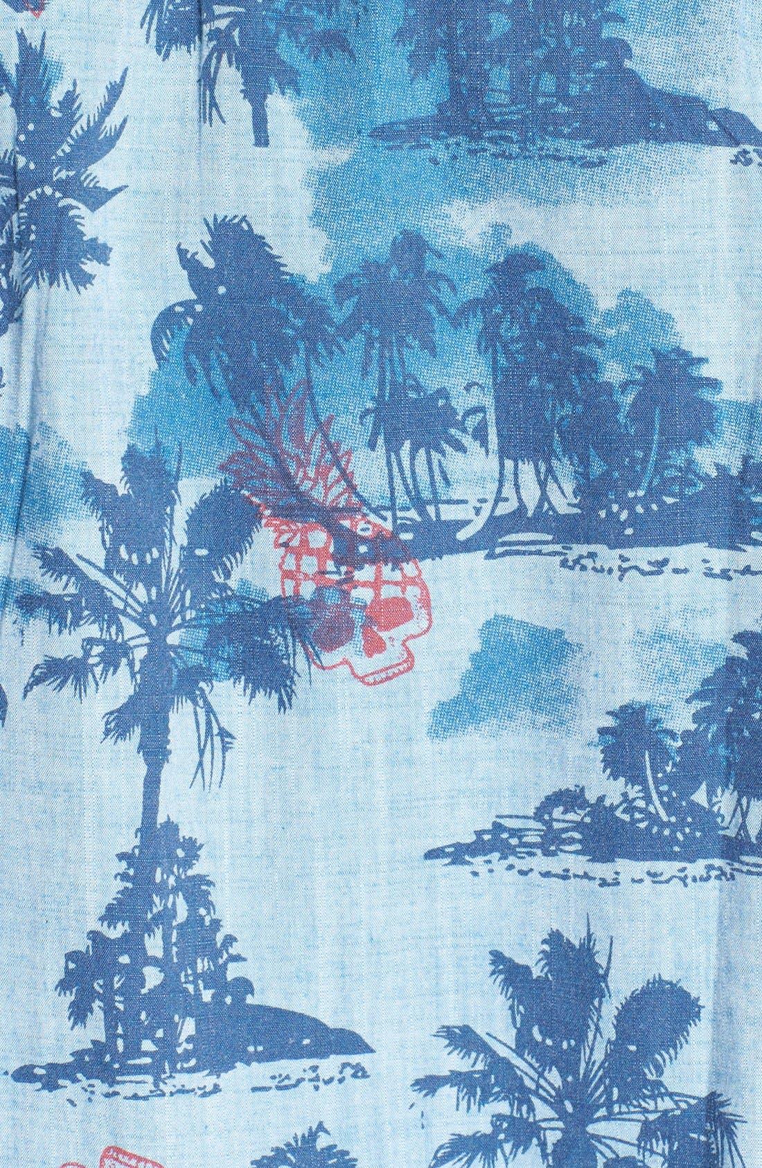,                             'Capitola' Dri-FIT Print Woven Shirt,                             Alternate thumbnail 3, color,                             411