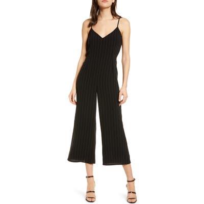 Cupcakes And Cashmere Lana Stripe Sleeveless Jumpsuit, Black