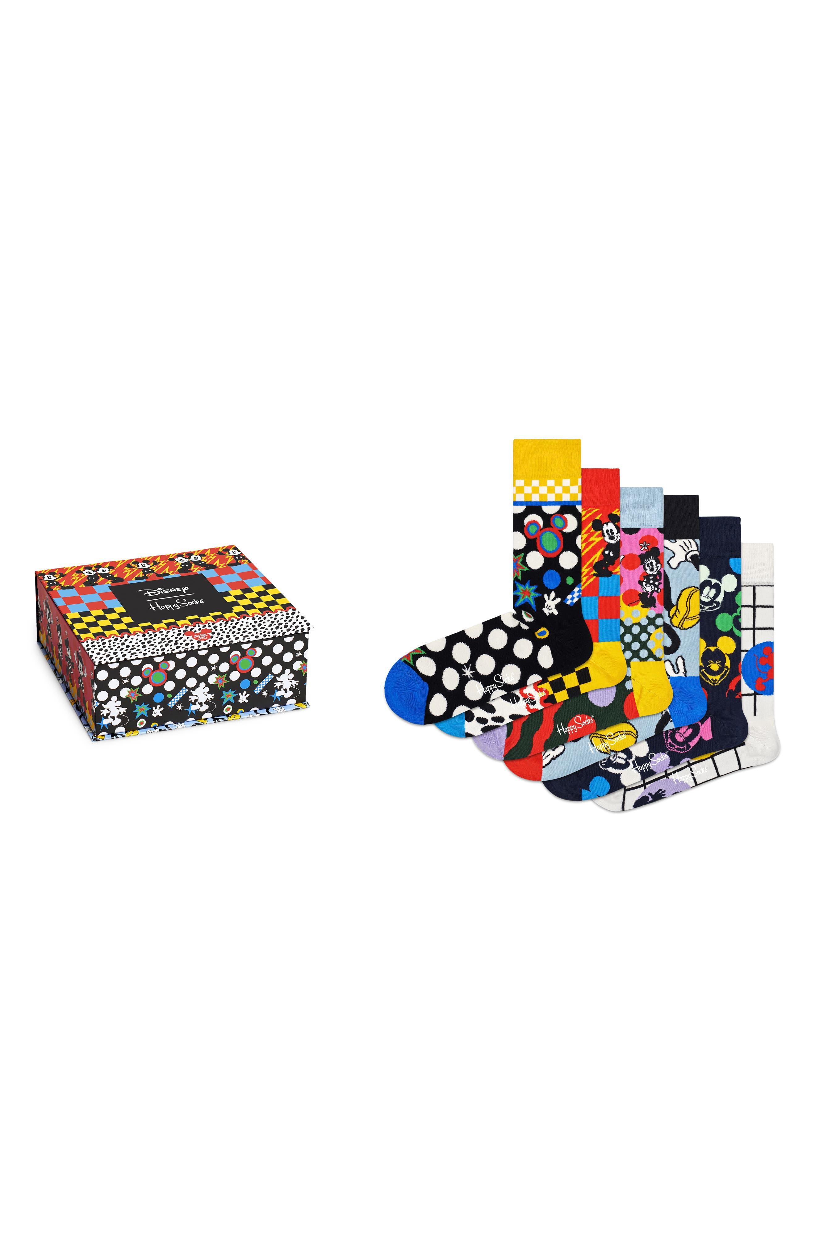 X Disney 6-Pack Assorted Crew Socks Gift Box