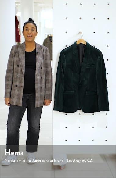 Velvet Skinny Suit Jacket, sales video thumbnail