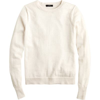 Plus Size J.crew Margot Crewneck Re-Imagined Wool Sweater, Ivory