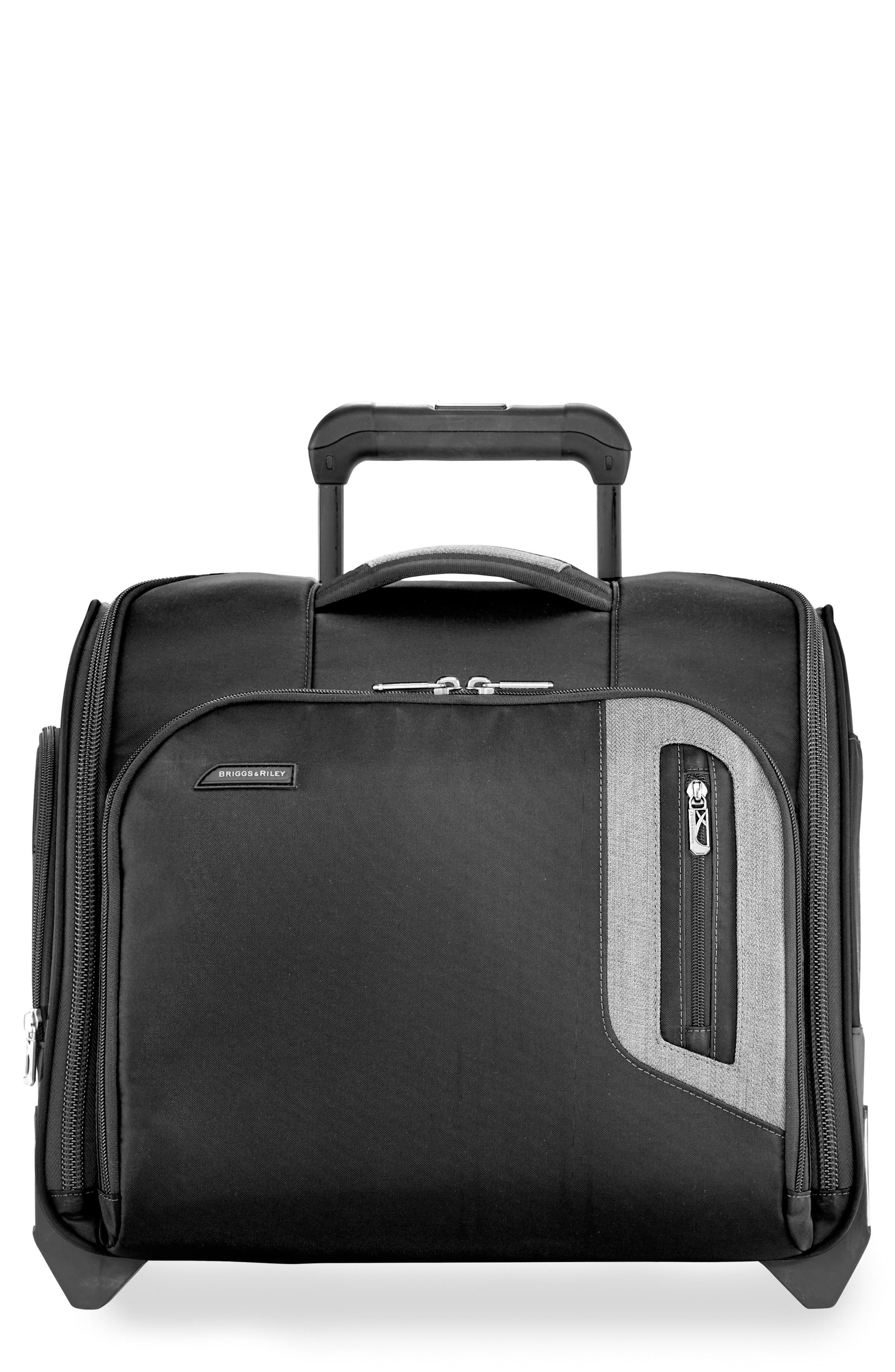 BRX Explore Wheeled Cabin Bag, Main, color, BLACK
