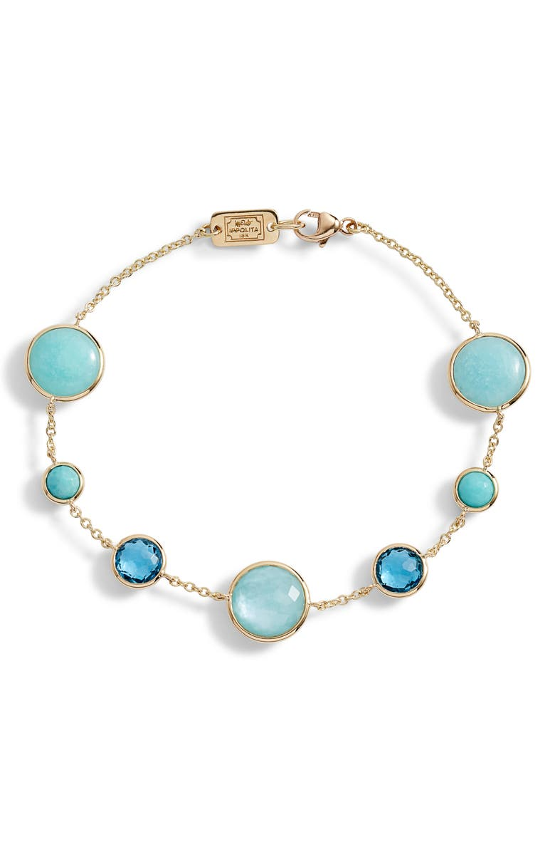 IPPOLITA Lollipop 7-Stone Bracelet, Main, color, GOLD WATERFALL