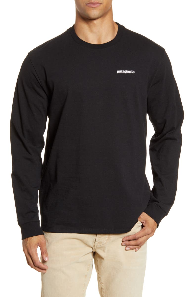 PATAGONIA P-6 Logo Responsibili-Tee T-Shirt, Main, color, BLACK