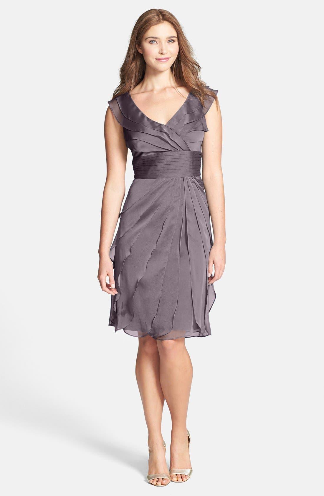 ,                             Tiered Chiffon Dress,                             Main thumbnail 41, color,                             512