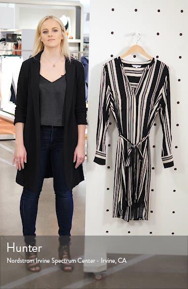 Marnie Stripe Long Sleeve Shirtdress, sales video thumbnail