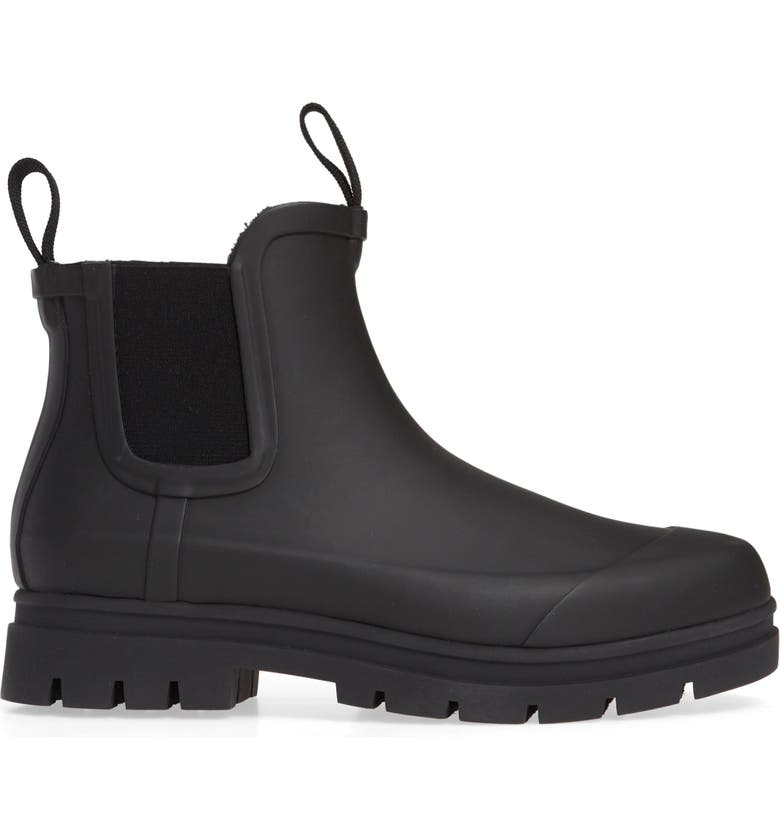 EVERLANE The Rain Boot Waterproof Boot, Main, color, BLACK
