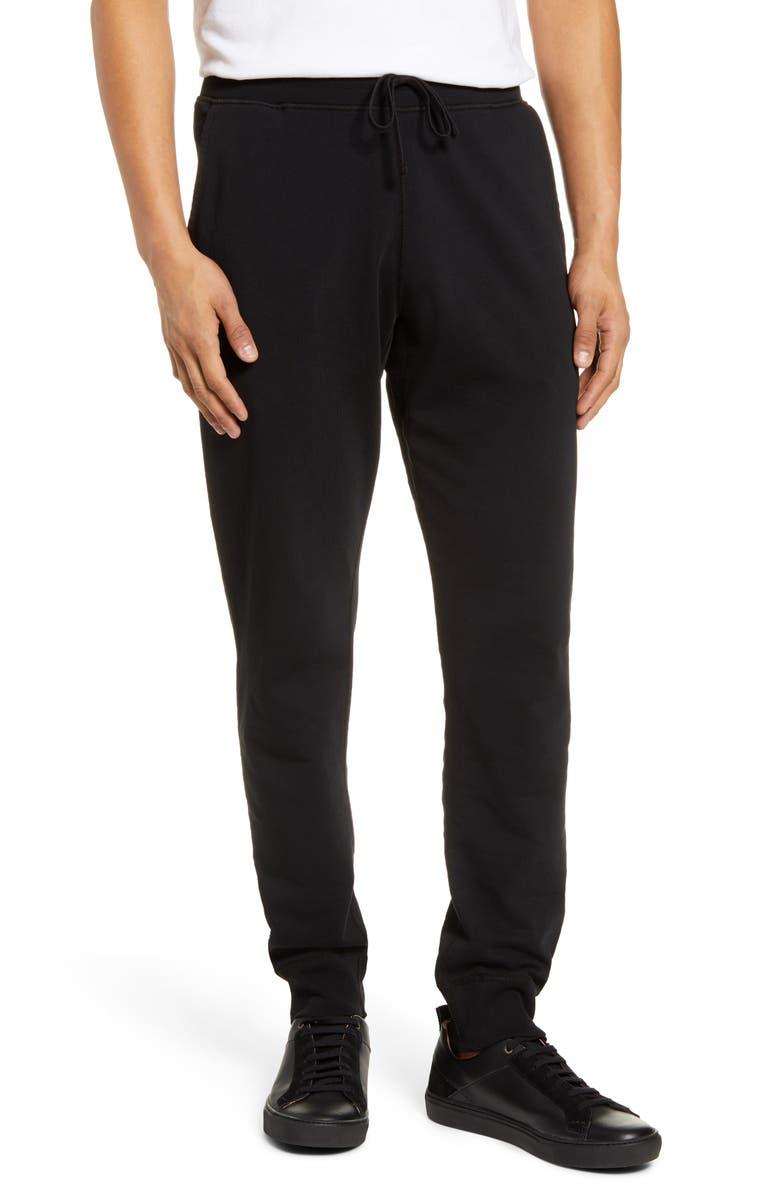 REIGNING CHAMP Slim Fit Terry Sweatpants, Main, color, BLACK