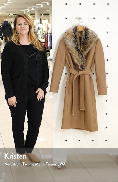 Corinna Wool Coat with Faux Fur Collar, sales video thumbnail