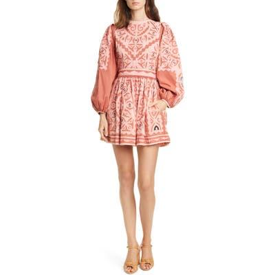 Ulla Johnson Omaira Long Sleeve Minidress, Pink