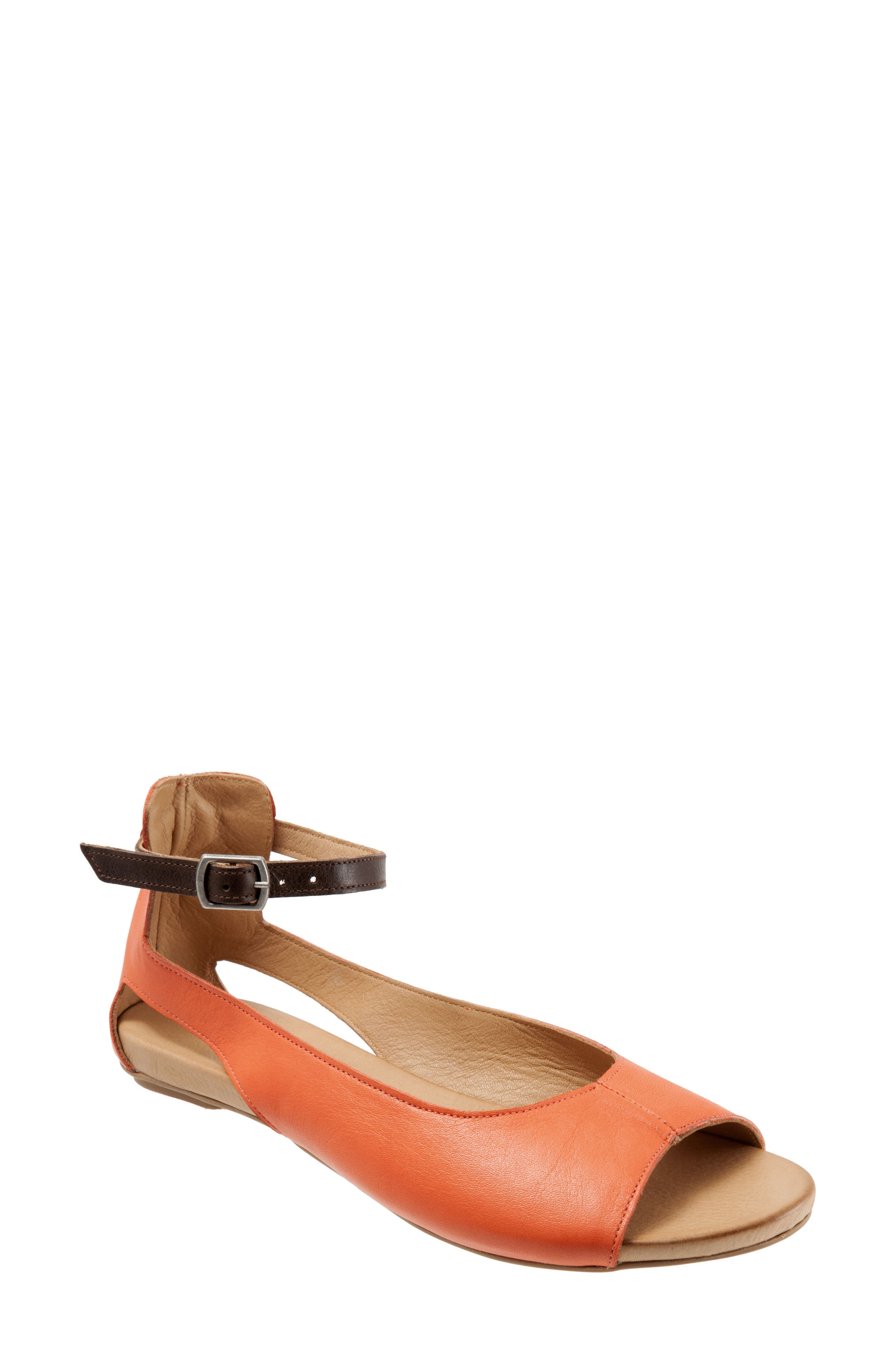 A slim ankle strap secures an elegant and contemporary sandal crafted from smooth and supple hand-worked leather. Style Name: Bueno Donna Ankle Strap Sandal (Women). Style Number: 5569172. Available in stores.