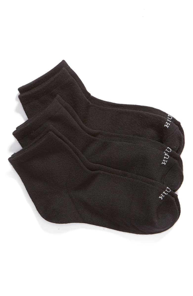HUE 3-Pack Supersoft Crop Socks, Main, color, 001