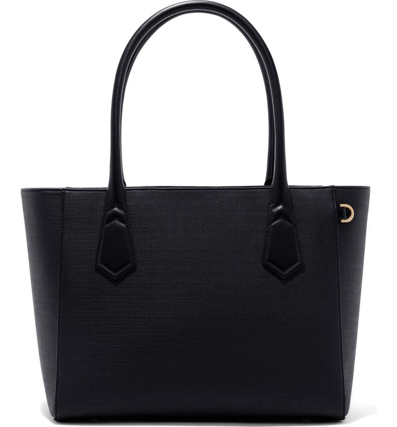 DAGNE DOVER Signature Classic Coated Canvas Tote, Main, color, ONYX