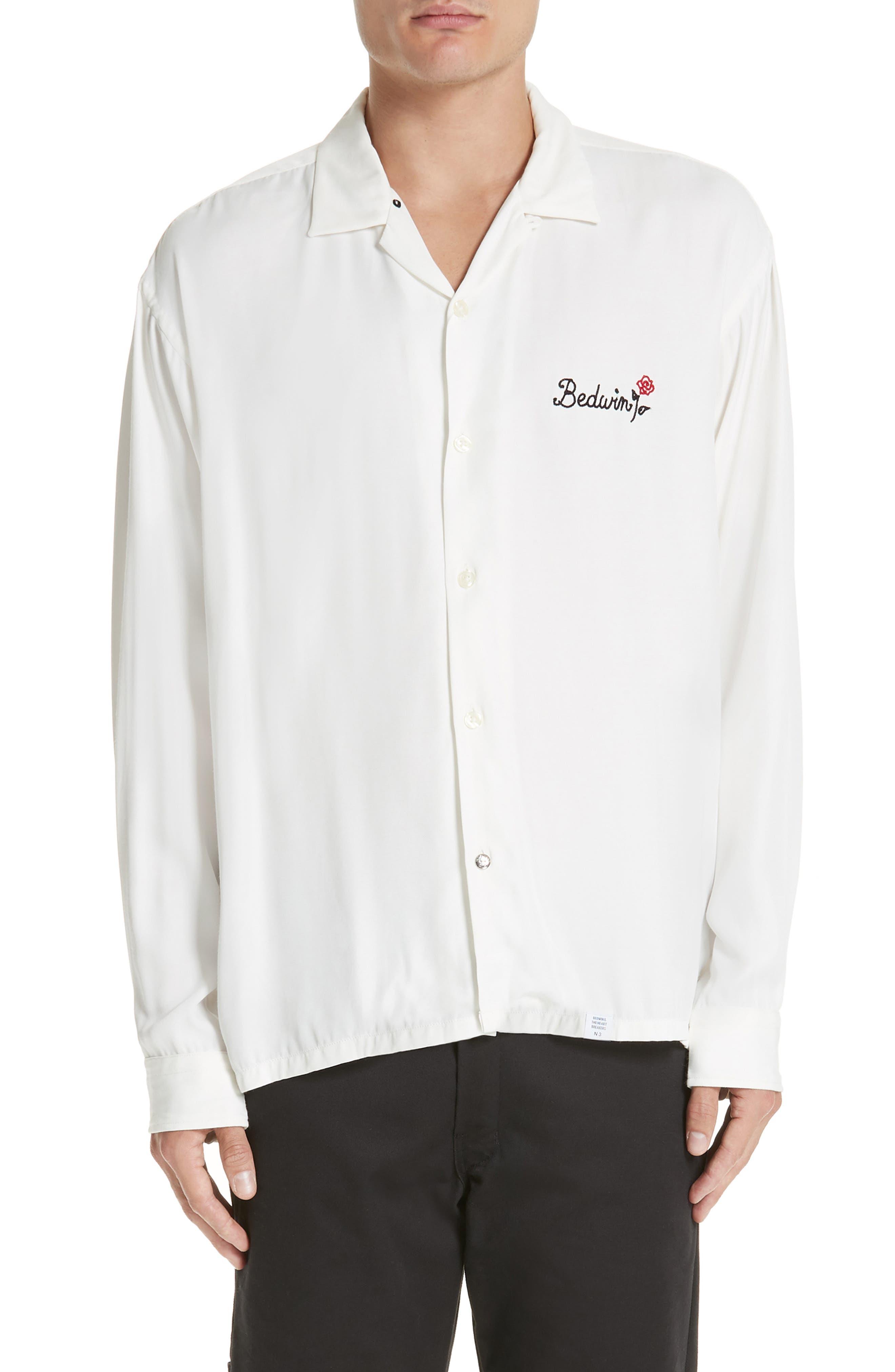 Marshall Denim Shirt, Main, color, 100