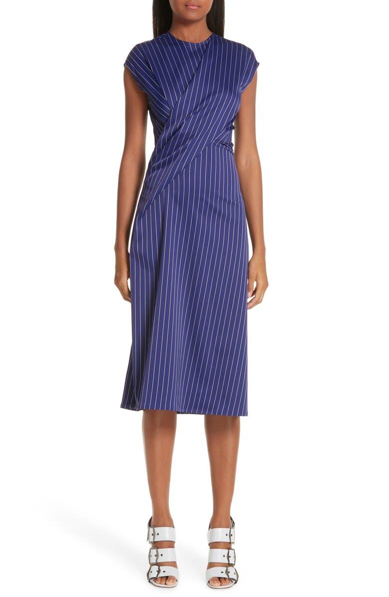 SIES MARJAN Layered Pinstripe Dress, Main, color, 413