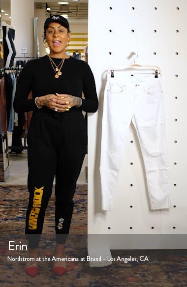 Dre Ripped Raw Hem Crop Skinny Jeans, sales video thumbnail