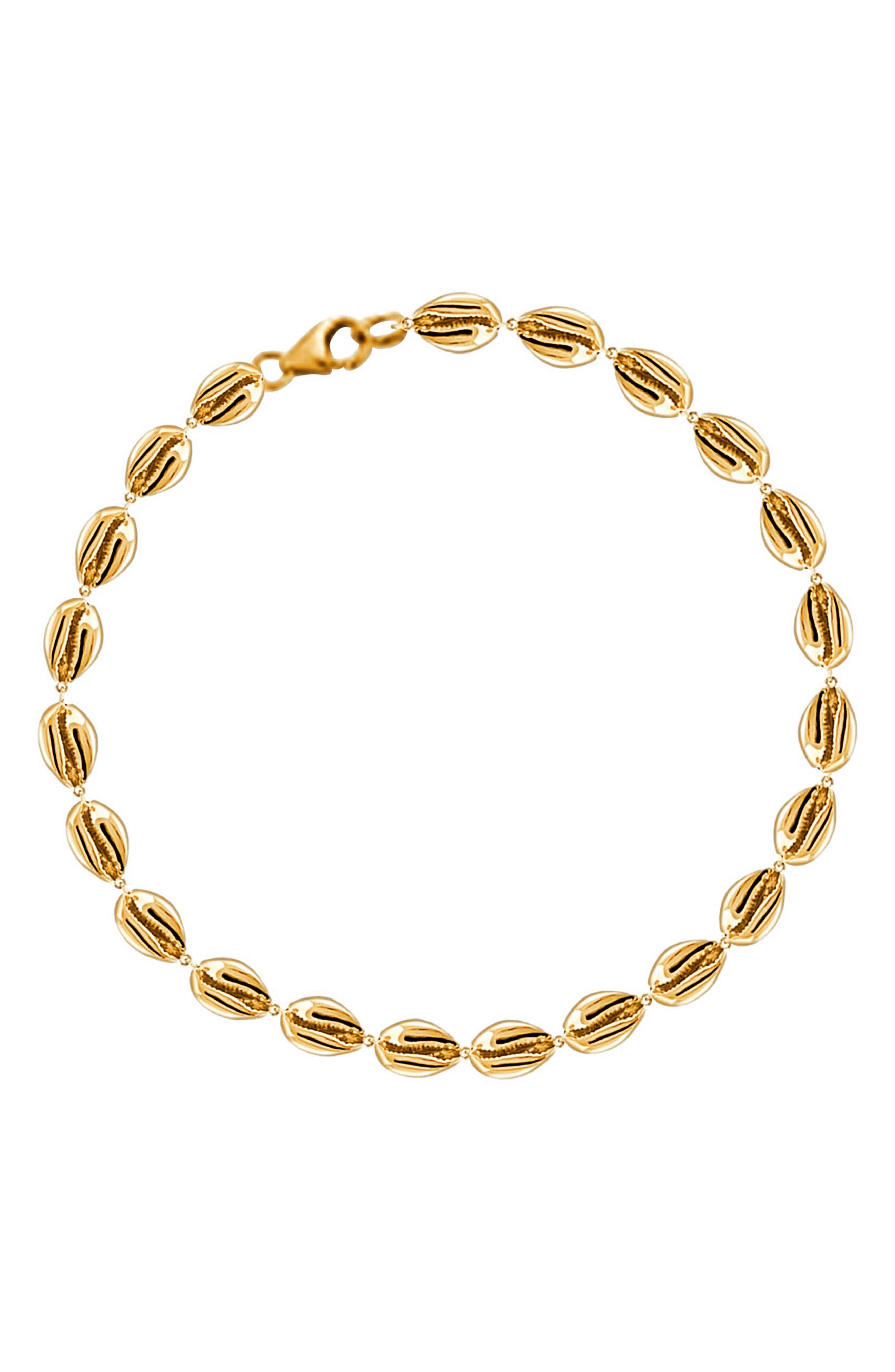 Le Cauri Shell Tennis Bracelet