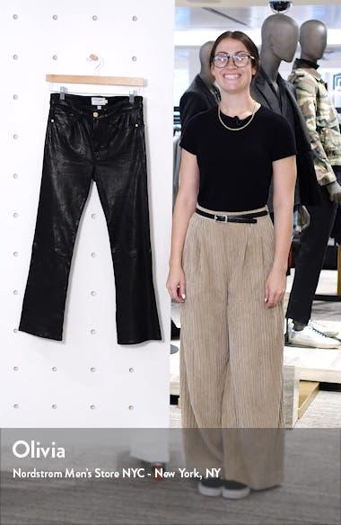 Le Crop Mini Boot Leather Pants, sales video thumbnail
