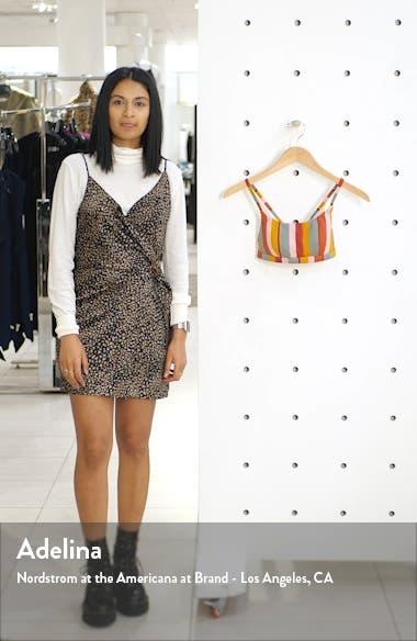 Second Wave Rainbow Stripe Sport Bikini Top, sales video thumbnail