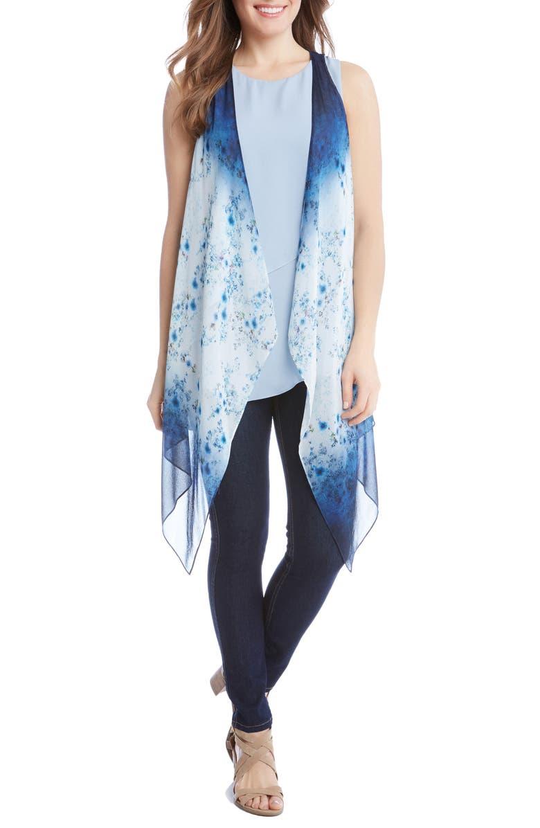 KAREN KANE Ombrè Floral Vest, Main, color, 460