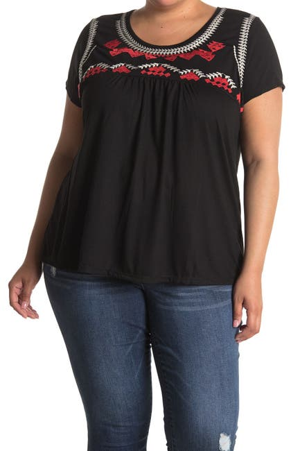 Image of Forgotten Grace Embroidered Babydoll T-Shirt