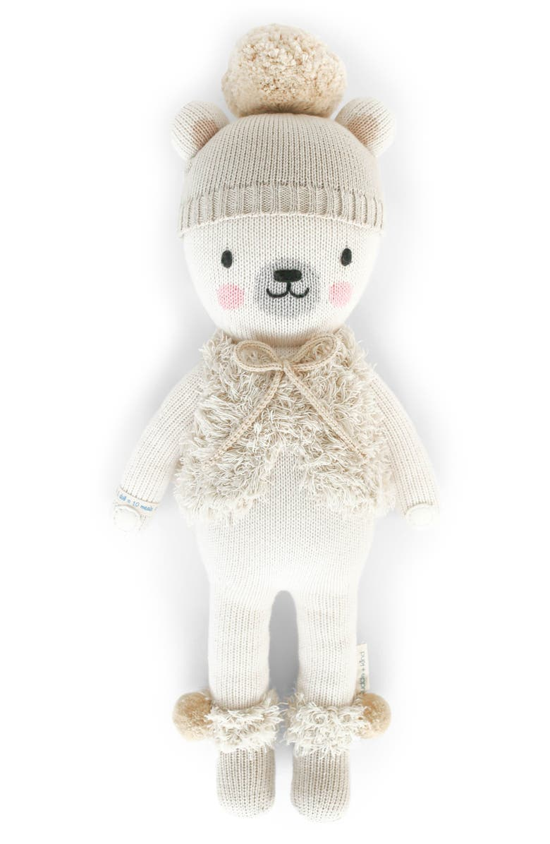 CUDDLE+KIND cuddle + kind Stella The Polar Bear Stuffed Animal, Main, color, 105
