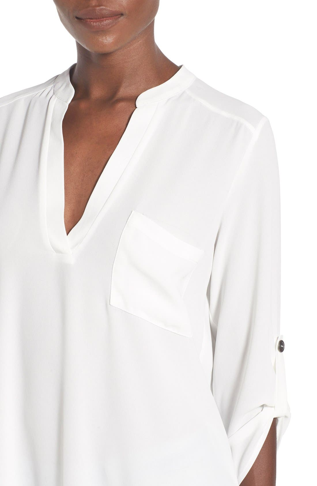 ,                             Perfect Roll Tab Sleeve Tunic,                             Alternate thumbnail 415, color,                             902