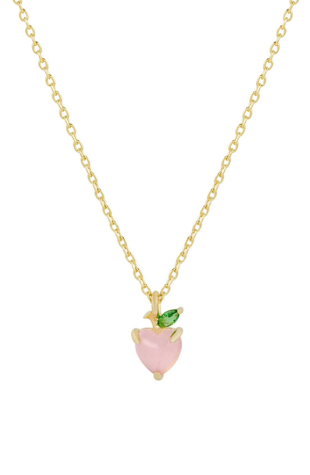 Just Peachy Pendant Necklace