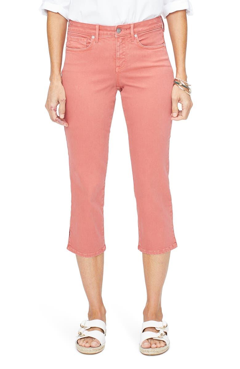 NYDJ Side Slit Capri Skinny Jeans, Main, color, CHILI PEPPER