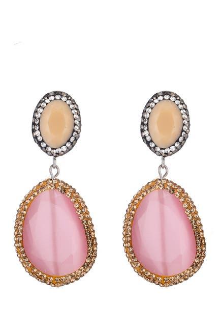 Image of Eye Candy Los Angeles Pave Hematite Drop Earrings