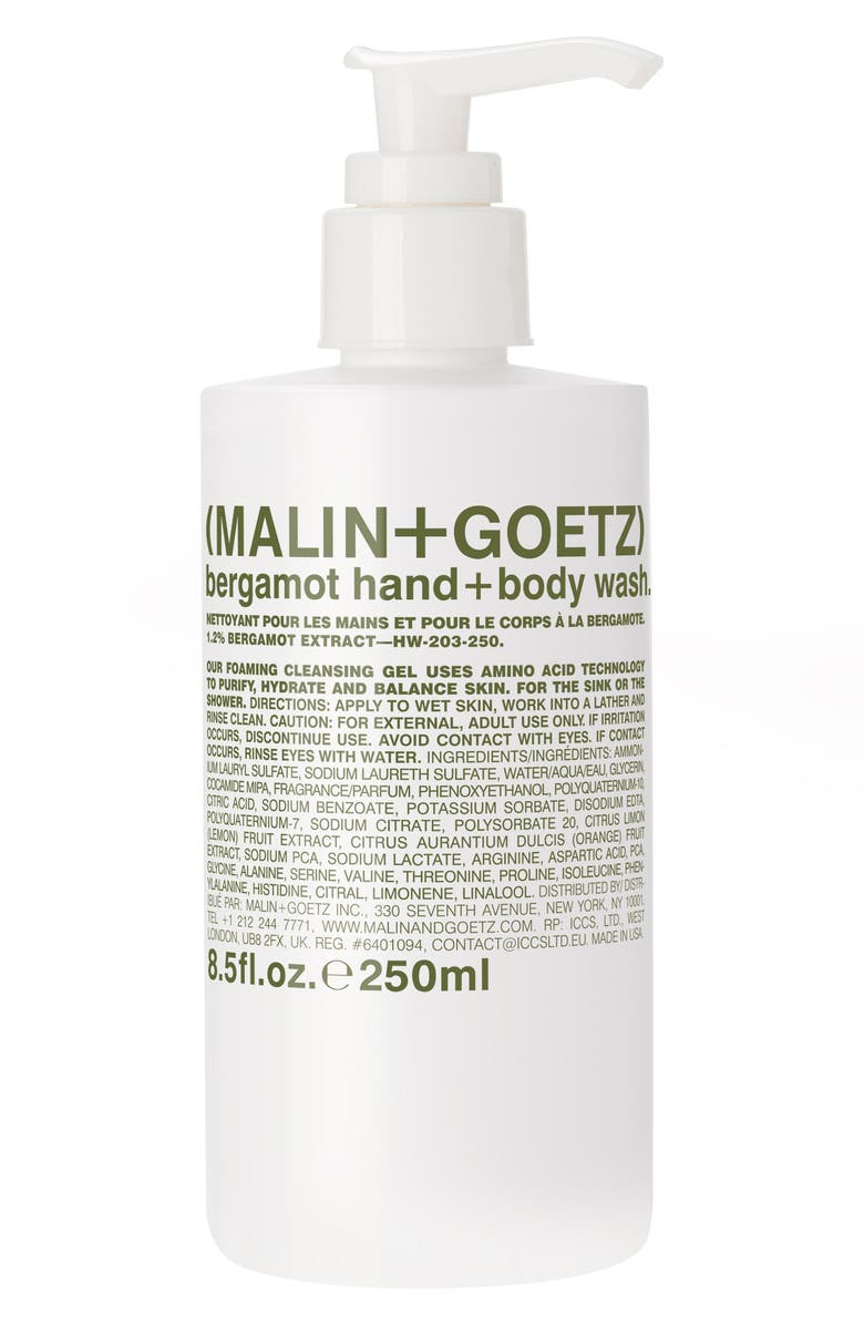 MALIN+GOETZ Bergamot Hand & Body Wash, Main, color, 000