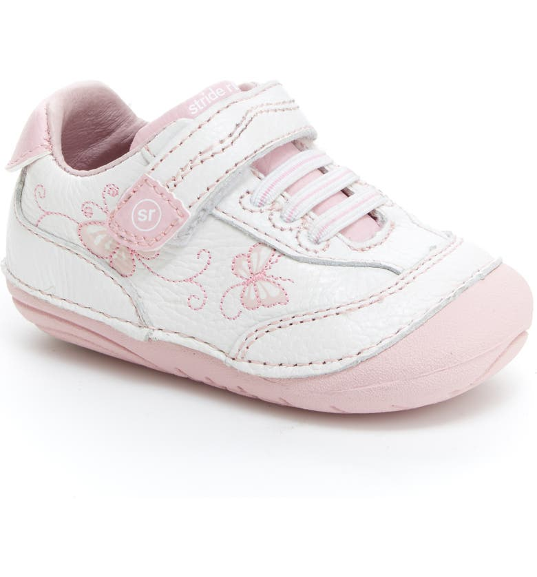 STRIDE RITE Sneaker, Main, color, WHITE/ PINK SHERBERT