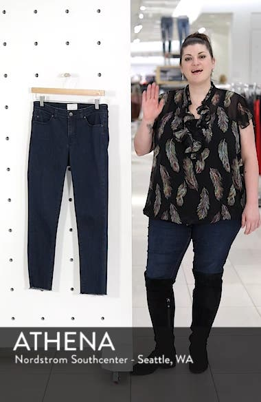 Frayed Hem Skinny Ankle Jeans, sales video thumbnail