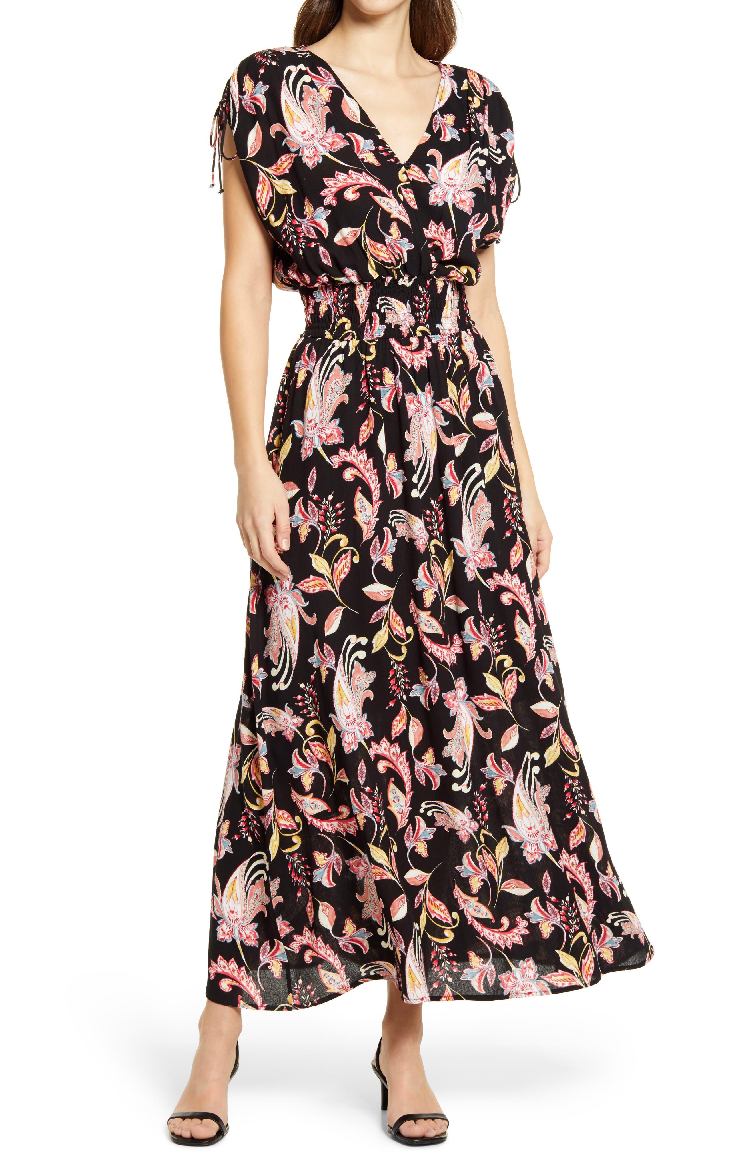 Kara Floral Faux Wrap Dress