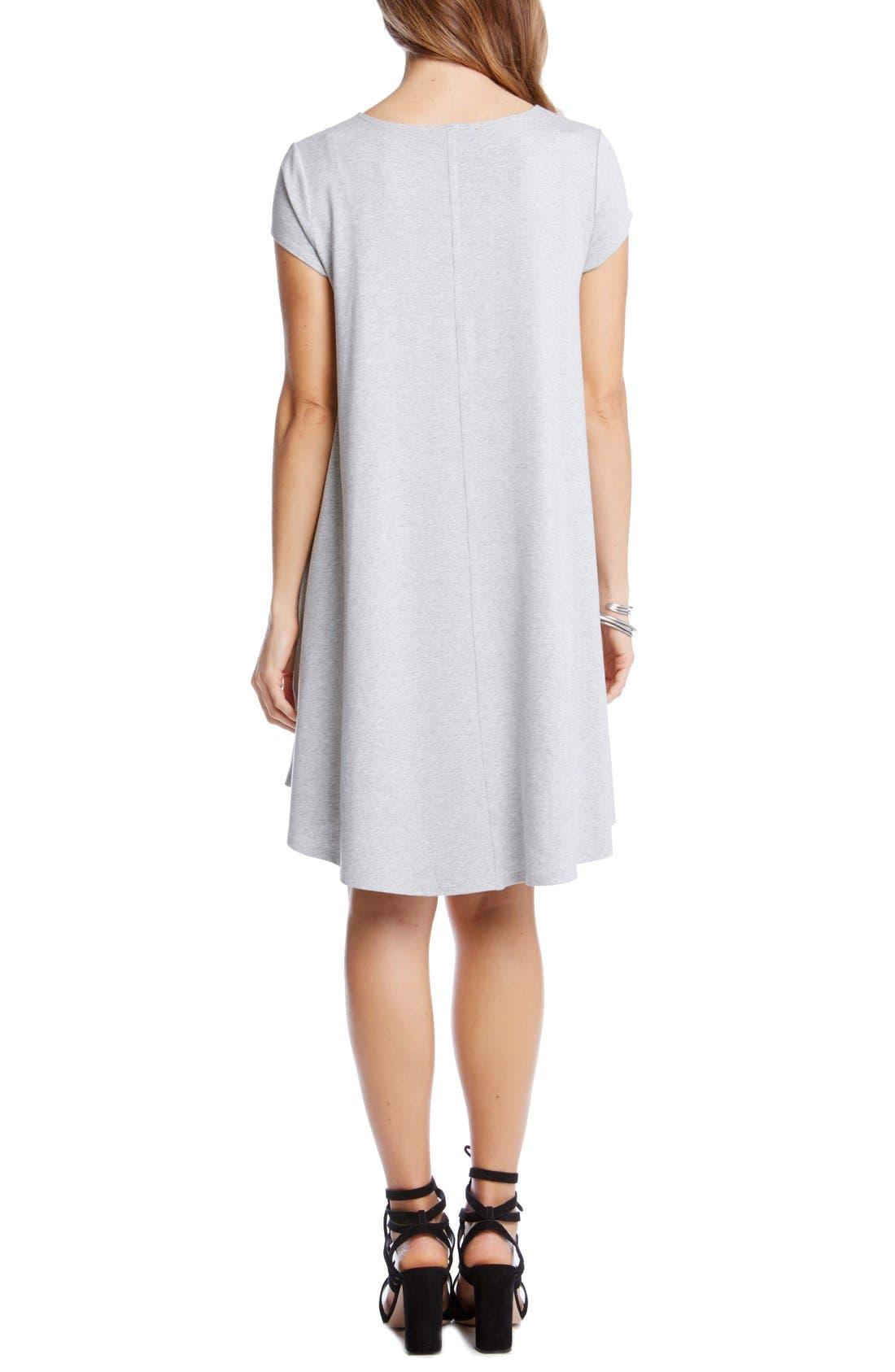 ,                             'Maggie' Cap Sleeve Trapeze Dress,                             Alternate thumbnail 6, color,                             056
