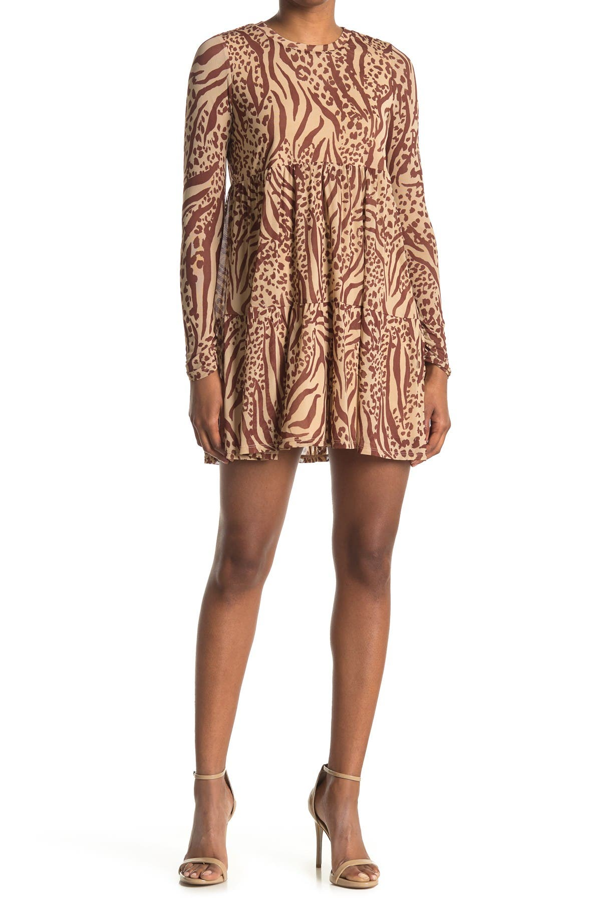 Image of AFRM Bell Long Sleeve Babydoll Dress