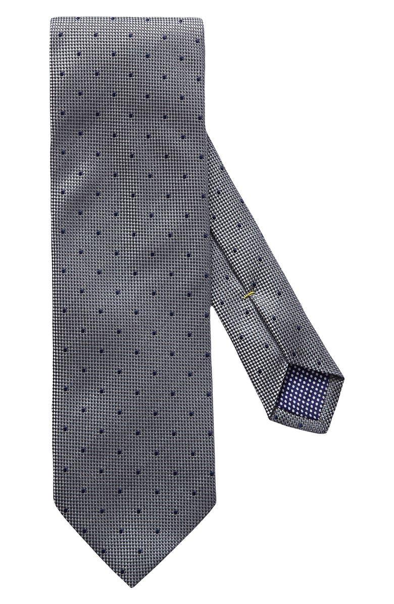 ETON Dot Silk Tie, Main, color, BLUE