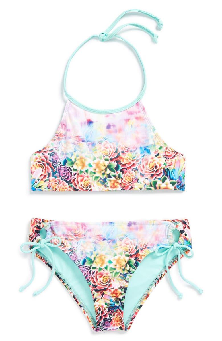 39d5c95986 Hobie 'Desert Rose' Two-Piece Swimsuit (Big Girls)   Nordstrom
