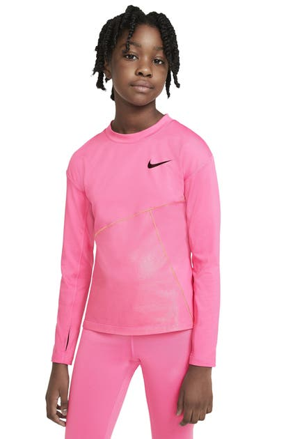 NIKE KIDS' PRO WARM TRAINING TOP