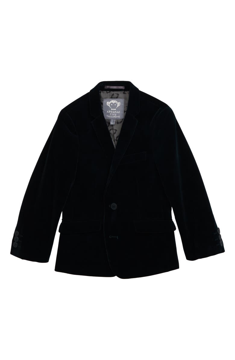 APPAMAN Velvet Blazer, Main, color, GREEN GABLES VELVET