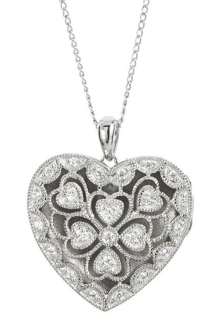 Image of Savvy Cie Sterling Silver Locket Pendant Necklace